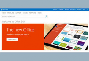 Microsoft Office 365 landing page screenshot